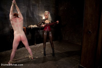 """Photo number 15 from Examining the Teacher's Pet: Episode 2 """"The cock crimper"""" shot for Divine Bitches on Kink.com. Featuring Lorelei Lee, Charlotte Vale and Zak Tyler in hardcore BDSM & Fetish porn."""