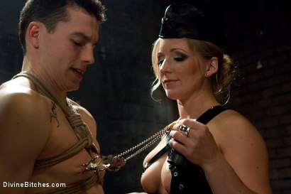 """Photo number 5 from Metamorphosis: Episode 1 """"Cum Thieves"""" shot for Divine Bitches on Kink.com. Featuring Dia Zerva, January Seraph and Martin Lorenzo in hardcore BDSM & Fetish porn."""