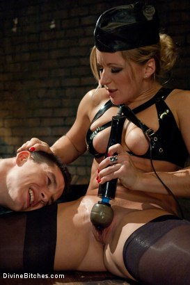 """Photo number 15 from Metamorphosis: Episode 1 """"Cum Thieves"""" shot for Divine Bitches on Kink.com. Featuring Dia Zerva, January Seraph and Martin Lorenzo in hardcore BDSM & Fetish porn."""