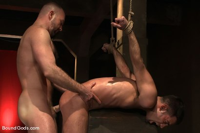 Photo number 12 from The Birthday Present shot for Bound Gods on Kink.com. Featuring Josh West and Justin Ryder in hardcore BDSM & Fetish porn.