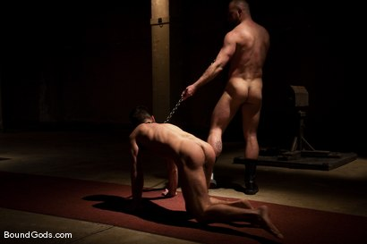 Photo number 8 from The Birthday Present shot for Bound Gods on Kink.com. Featuring Josh West and Justin Ryder in hardcore BDSM & Fetish porn.