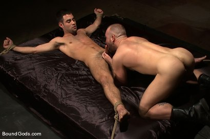Photo number 14 from The Birthday Present shot for Bound Gods on Kink.com. Featuring Josh West and Justin Ryder in hardcore BDSM & Fetish porn.
