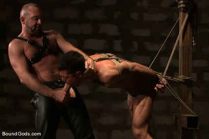 Photo number 7 from The Birthday Present shot for Bound Gods on Kink.com. Featuring Josh West and Justin Ryder in hardcore BDSM & Fetish porn.