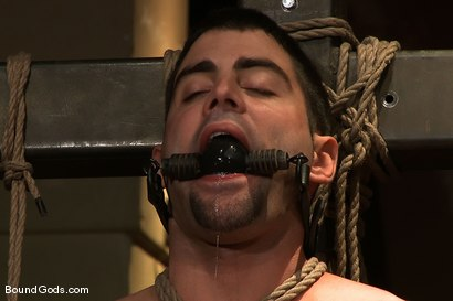 Photo number 5 from The Birthday Present shot for Bound Gods on Kink.com. Featuring Josh West and Justin Ryder in hardcore BDSM & Fetish porn.