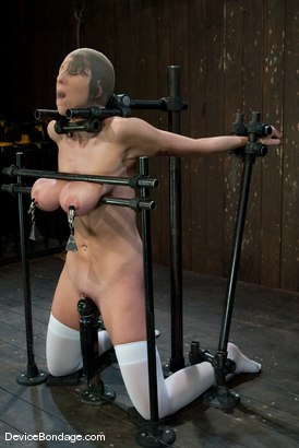Photo number 15 from Alia Janine <br>34FF. That's all I have to say about that. shot for Device Bondage on Kink.com. Featuring Alia Janine in hardcore BDSM & Fetish porn.