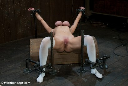 Photo number 9 from Alia Janine   Huge Honking Tits shot for Device Bondage on Kink.com. Featuring Alia Janine in hardcore BDSM & Fetish porn.