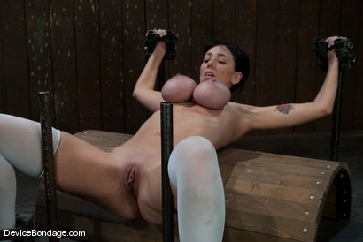 Photo number 11 from Alia Janine <br> Huge Honking Tits shot for Device Bondage on Kink.com. Featuring Alia Janine in hardcore BDSM & Fetish porn.