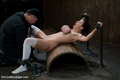 Photo number 14 from Alia Janine <br> Huge Honking Tits shot for Device Bondage on Kink.com. Featuring Alia Janine in hardcore BDSM & Fetish porn.
