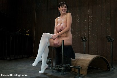 Photo number 15 from Alia Janine <br> Huge Honking Tits shot for Device Bondage on Kink.com. Featuring Alia Janine in hardcore BDSM & Fetish porn.
