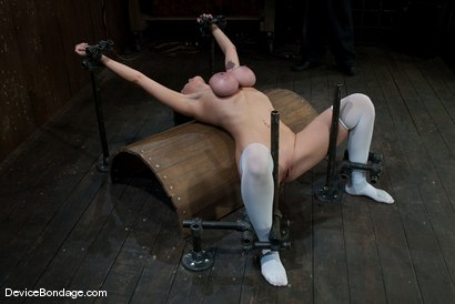 Photo number 6 from Alia Janine <br> Huge Honking Tits shot for Device Bondage on Kink.com. Featuring Alia Janine in hardcore BDSM & Fetish porn.