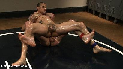Photo number 8 from DJ vs Daniel Star  The Oil Match shot for Naked Kombat on Kink.com. Featuring DJ and Daniel Star in hardcore BDSM & Fetish porn.