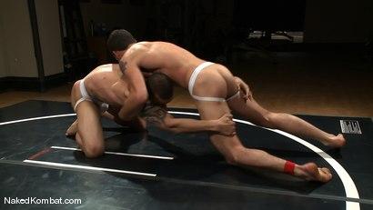 Photo number 3 from DJ vs Daniel Star  The Oil Match shot for Naked Kombat on Kink.com. Featuring DJ and Daniel Star in hardcore BDSM & Fetish porn.