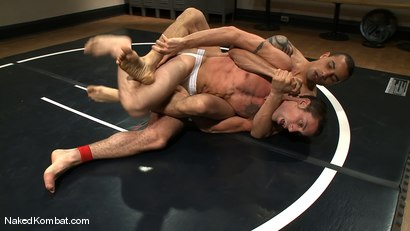 Photo number 4 from DJ vs Daniel Star <br> The Oil Match shot for Naked Kombat on Kink.com. Featuring DJ and Daniel Star in hardcore BDSM & Fetish porn.