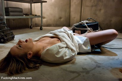 Photo number 15 from Jessie Cox <br> Robot fucking and Sybian treatment shot for Fucking Machines on Kink.com. Featuring Jessie Cox in hardcore BDSM & Fetish porn.