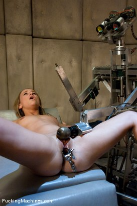 Photo number 2 from Jessie Cox <br> Robot fucking and Sybian treatment shot for Fucking Machines on Kink.com. Featuring Jessie Cox in hardcore BDSM & Fetish porn.