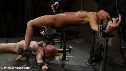 Photo number 13 from Someone has a squirting problem<br> Someone has a drinking problem shot for Device Bondage on Kink.com. Featuring Rain DeGrey and Dee Williams in hardcore BDSM & Fetish porn.