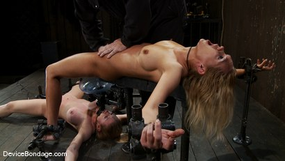 Photo number 7 from Someone has a squirting problem<br> Someone has a drinking problem shot for Device Bondage on Kink.com. Featuring Rain DeGrey and Dee Williams in hardcore BDSM & Fetish porn.