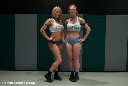 """Photo number 2 from Darling """"The Grappler"""" (0-0)<br>vs<br>Krissy """"The Crippler"""" Lynn (0-0) shot for Ultimate Surrender on Kink.com. Featuring Dee Williams and Krissy Lynn in hardcore BDSM & Fetish porn."""