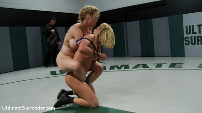 "Photo number 11 from Darling ""The Grappler"" (0-0)<br>vs<br>Krissy ""The Crippler"" Lynn (0-0) shot for Ultimate Surrender on Kink.com. Featuring Dee Williams and Krissy Lynn in hardcore BDSM & Fetish porn."
