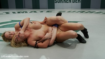 "Photo number 6 from Darling ""The Grappler"" (0-0)<br>vs<br>Krissy ""The Crippler"" Lynn (0-0) shot for Ultimate Surrender on Kink.com. Featuring Dee Williams and Krissy Lynn in hardcore BDSM & Fetish porn."