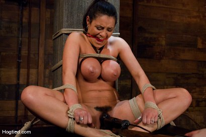 Photo number 7 from  Real Big Tits, Real Big Orgasms shot for Hogtied on Kink.com. Featuring Charley Chase in hardcore BDSM & Fetish porn.