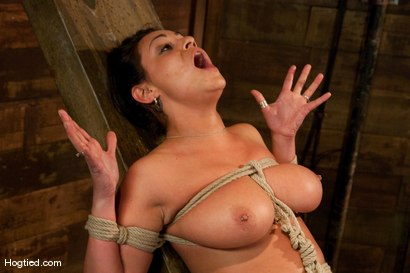 Photo number 9 from  Real Big Tits, Real Big Orgasms shot for Hogtied on Kink.com. Featuring Charley Chase in hardcore BDSM & Fetish porn.