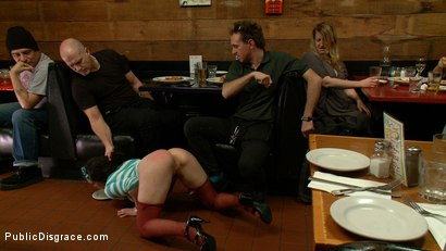 Photo number 4 from Juliette  shot for Public Disgrace on Kink.com. Featuring Juliette March and Mark Davis in hardcore BDSM & Fetish porn.