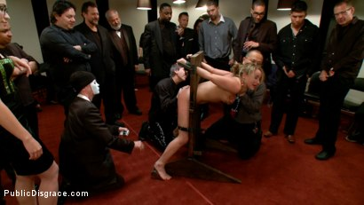 Photo number 7 from Hot Young Slut Used and Abused in the Kink.com Castle shot for Public Disgrace on Kink.com. Featuring Jessie Cox and Justin Long in hardcore BDSM & Fetish porn.