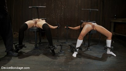Photo number 6 from Alicia Stone, Sienna, and Isis Love <br>Part 1 of 4 of the February Live Show. shot for Device Bondage on Kink.com. Featuring Isis Love, Alicia Stone and Sienna in hardcore BDSM & Fetish porn.