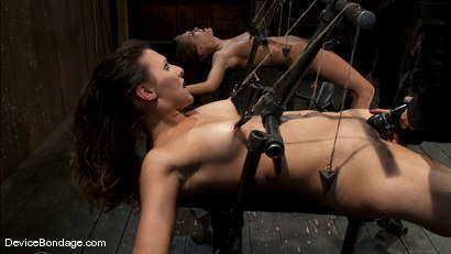 Photo number 10 from Alicia Stone, Sienna, and Isis Love <br>Part 1 of 4 of the February Live Show. shot for Device Bondage on Kink.com. Featuring Isis Love, Alicia Stone and Sienna in hardcore BDSM & Fetish porn.