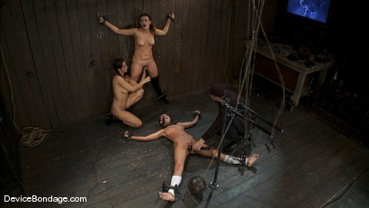Photo number 14 from Alicia Stone, Sienna, and Isis Love <br>Part 3 of 4 of the February Live Show. shot for Device Bondage on Kink.com. Featuring Isis Love, Alicia Stone and Sienna in hardcore BDSM & Fetish porn.