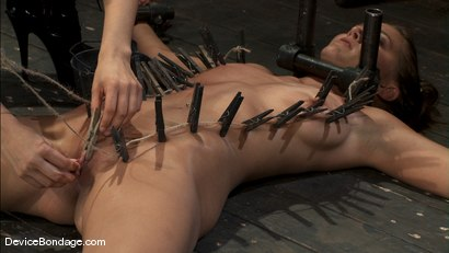 Photo number 5 from Alicia Stone, Sienna, and Isis Love <br>Part 3 of 4 of the February Live Show. shot for Device Bondage on Kink.com. Featuring Isis Love, Alicia Stone and Sienna in hardcore BDSM & Fetish porn.
