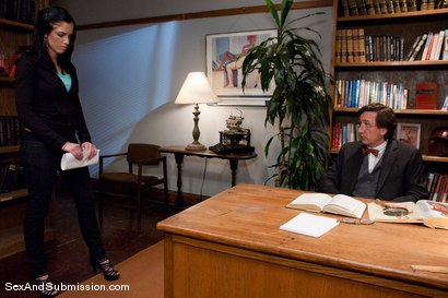Photo number 1 from Final Exam shot for Sex And Submission on Kink.com. Featuring Steve Holmes and Tricia Oaks in hardcore BDSM & Fetish porn.