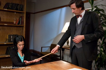 Photo number 2 from Final Exam shot for Sex And Submission on Kink.com. Featuring Steve Holmes and Tricia Oaks in hardcore BDSM & Fetish porn.
