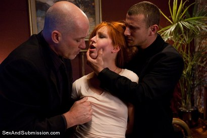 Photo number 2 from The Debt Collectors II shot for Sex And Submission on Kink.com. Featuring Mark Davis, Mr. Pete and Calico in hardcore BDSM & Fetish porn.