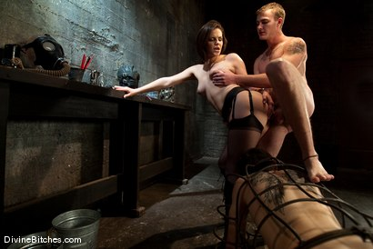 "Photo number 7 from Chastity Cuckold Slave: ""Smell his cock on my pussy"" shot for Divine Bitches on Kink.com. Featuring Bobbi Starr, Dylan Deap and Christian Wilde in hardcore BDSM & Fetish porn."
