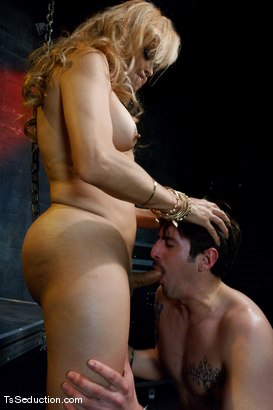 Photo number 10 from Johanna B. <br> A cougar in a boy band shot for TS Seduction on Kink.com. Featuring Johanna B and Benny Reynolds in hardcore BDSM & Fetish porn.
