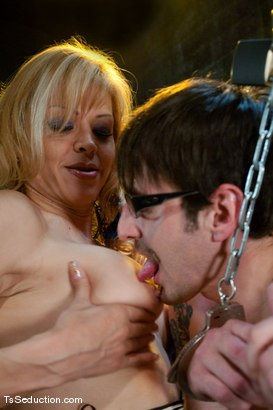 Photo number 6 from Johanna B. <br> A cougar in a boy band shot for TS Seduction on Kink.com. Featuring Johanna B and Benny Reynolds in hardcore BDSM & Fetish porn.