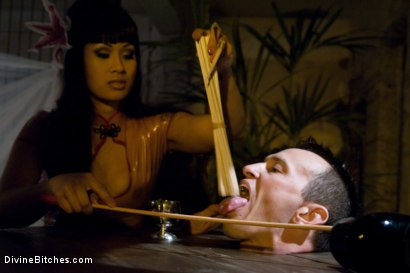 """Photo number 14 from Episode: 3 """"Worthless Cock"""" shot for Divine Bitches on Kink.com. Featuring DragonLily and Derrick P. in hardcore BDSM & Fetish porn."""