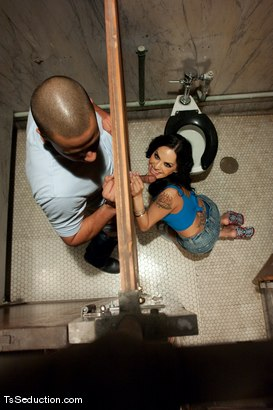 Photo number 3 from TS Foxxy <br> Tailgating and glory hole blow jobs shot for TS Seduction on Kink.com. Featuring TS Foxxy and Lance in hardcore BDSM & Fetish porn.