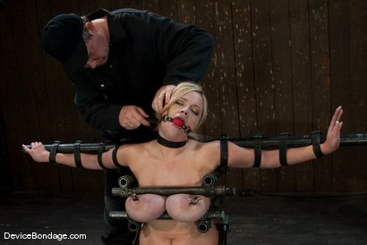 Photo number 4 from Katie Kox<br> Thanks for the mammaries. shot for Device Bondage on Kink.com. Featuring Katie Kox in hardcore BDSM & Fetish porn.