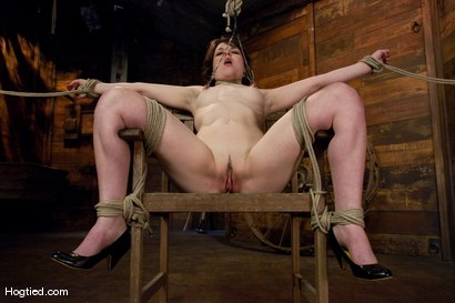 Photo number 8 from Casting Couch: Juliette shot for Hogtied on Kink.com. Featuring Juliette March in hardcore BDSM & Fetish porn.