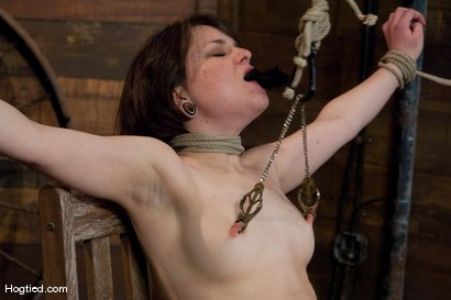 Photo number 9 from Casting Couch: Juliette shot for Hogtied on Kink.com. Featuring Juliette March in hardcore BDSM & Fetish porn.
