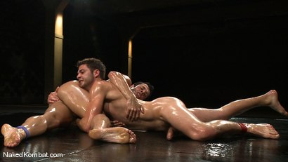 Photo number 9 from Dane Caroggio vs Tommy Defendi <br> The Oil Match shot for Naked Kombat on Kink.com. Featuring Tommy Defendi and Dane Caroggio in hardcore BDSM & Fetish porn.