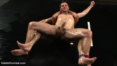 Photo number 10 from Dane Caroggio vs Tommy Defendi <br> The Oil Match shot for Naked Kombat on Kink.com. Featuring Tommy Defendi and Dane Caroggio in hardcore BDSM & Fetish porn.
