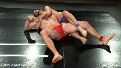 Photo number 1 from Dane Caroggio vs Tommy Defendi <br> The Oil Match shot for Naked Kombat on Kink.com. Featuring Tommy Defendi and Dane Caroggio in hardcore BDSM & Fetish porn.
