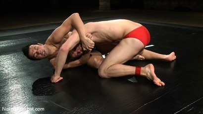 Photo number 2 from Dane Caroggio vs Tommy Defendi <br> The Oil Match shot for Naked Kombat on Kink.com. Featuring Tommy Defendi and Dane Caroggio in hardcore BDSM & Fetish porn.