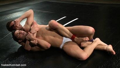 Photo number 4 from Dane Caroggio vs Tommy Defendi <br> The Oil Match shot for Naked Kombat on Kink.com. Featuring Tommy Defendi and Dane Caroggio in hardcore BDSM & Fetish porn.