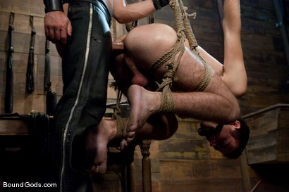 Photo number 9 from Tristan Jaxx gets tied up and flogged. shot for Bound Gods on Kink.com. Featuring Tristan Jaxx, Van Darkholme and Matthew Singer in hardcore BDSM & Fetish porn.