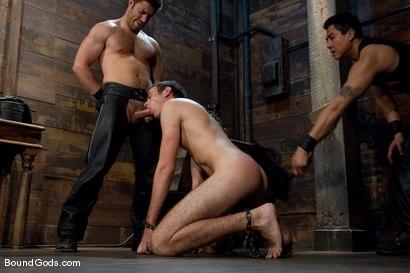 Photo number 7 from Tristan Jaxx gets tied up and flogged. shot for Bound Gods on Kink.com. Featuring Tristan Jaxx, Van Darkholme and Matthew Singer in hardcore BDSM & Fetish porn.